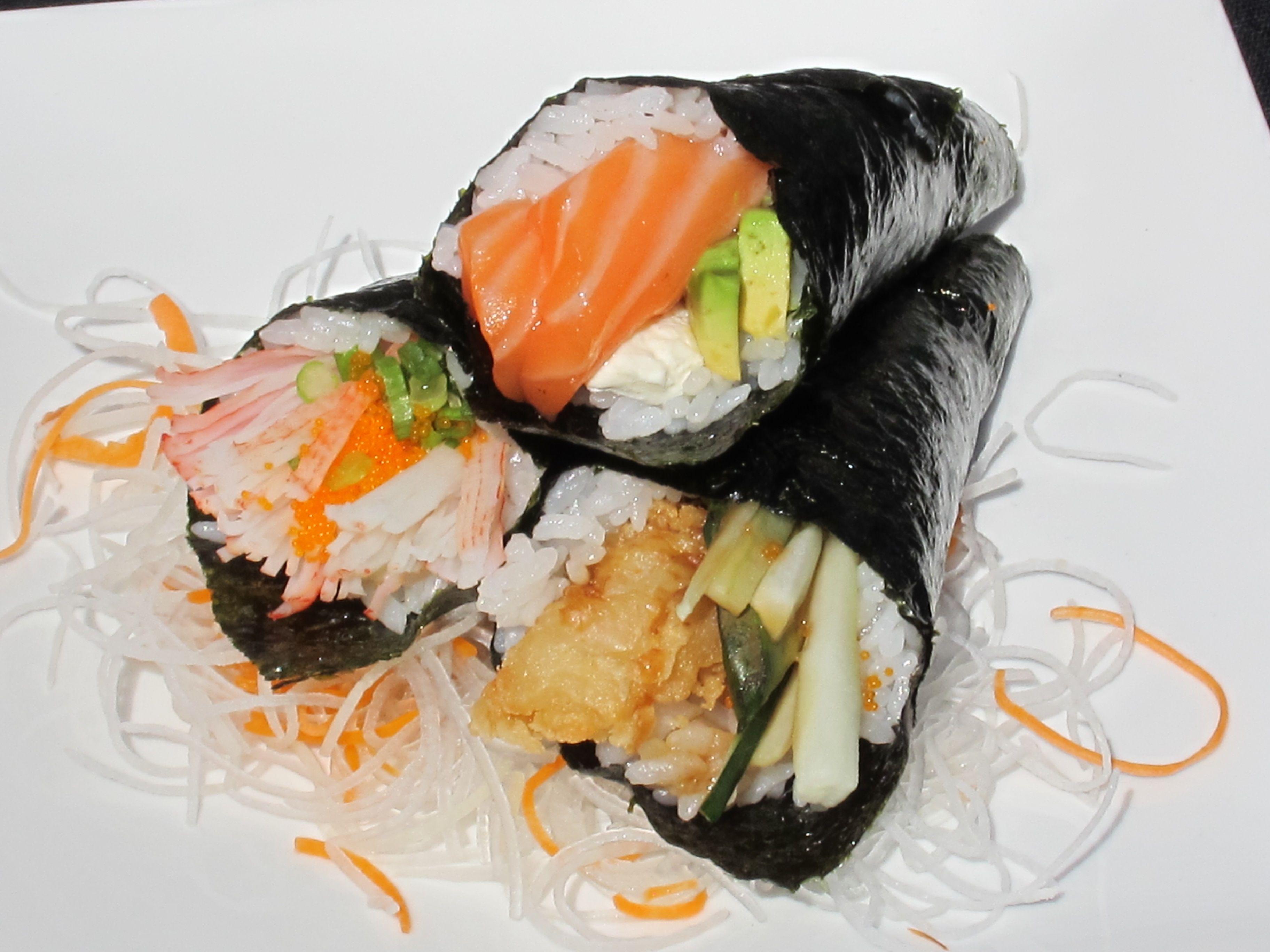 crab delight hanroll jb handroll and shrimp tempura handroll tampa rh pinterest com