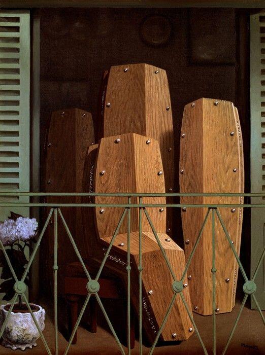 Het balkon van Magritte. Metamorfoseschilderij