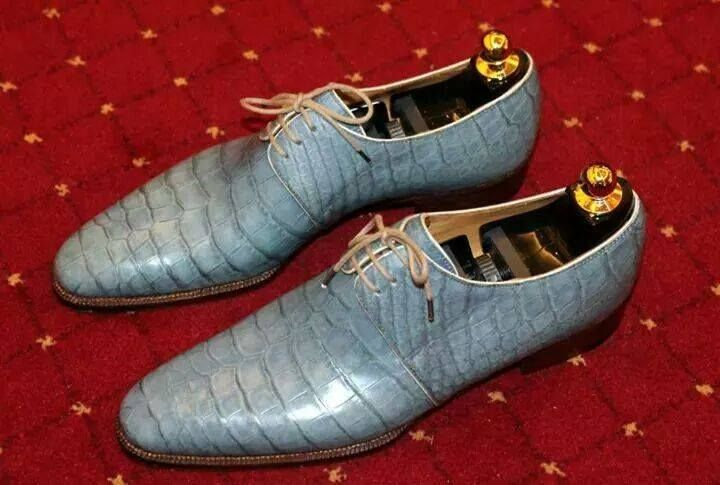 Nothing like a pair of light blue alligator shoes to make that light blue  suit stand out and pop gators by shoe snob 4c406948d