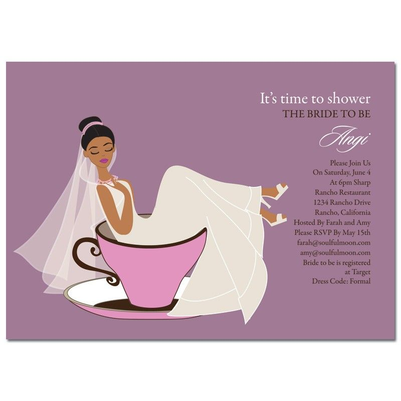 Unique African American Bridal Shower Invitations From Soulfulmoon Teacup Bride