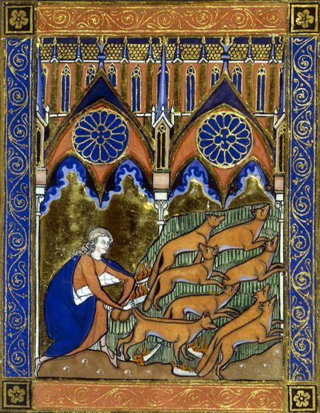 Bnf Le Roman De Renart Psautier De Saint Louis Et Trois Cents Renards Bestiaire Roman De Renart Art Medieval