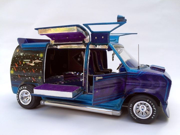 Ford Van Model Custom Paint And Opening Doors With Images