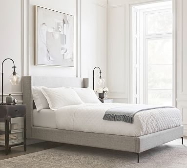 Harper Upholstered Tall Storage Platform Bed