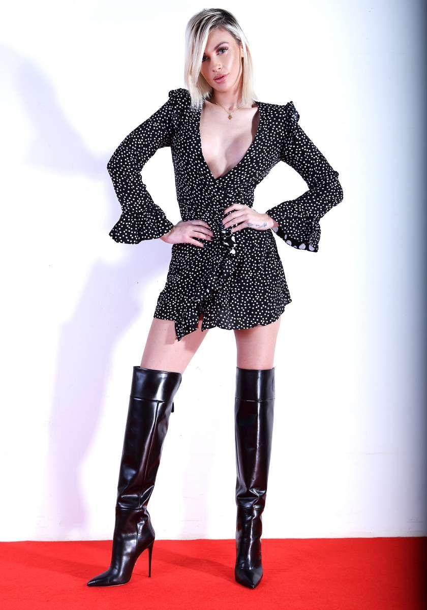 ALINA50 black   Overknee stiefel, Kleidung, Oberschenkel
