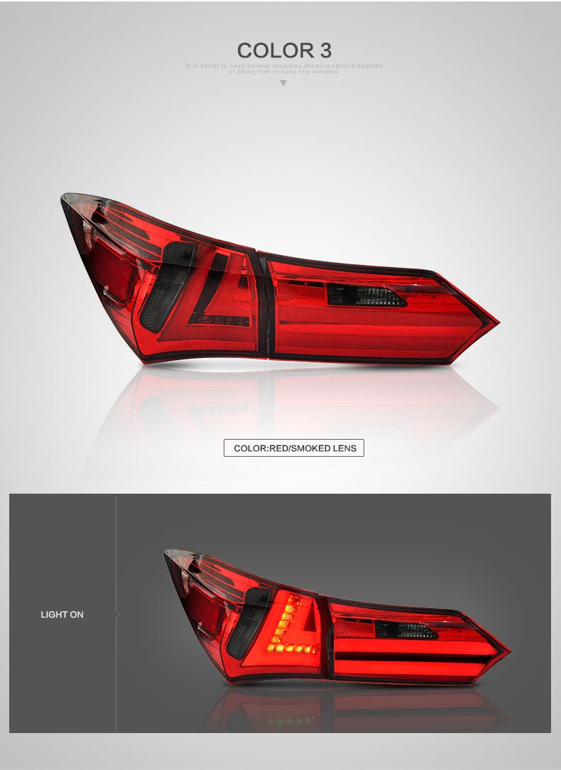 Vland Wholesales Factory Manufacturer Corolla Rear Light 2014 Led