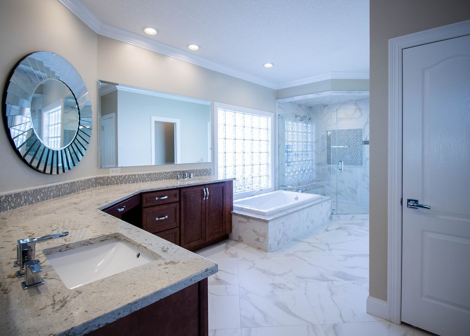 Modern & Elegant - Spa Retreat - Master Bathroom Remodel ...