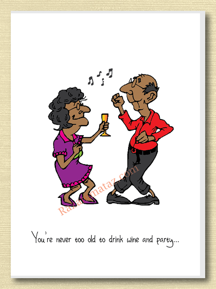 'Never Too Old To Party' African American Card Happy