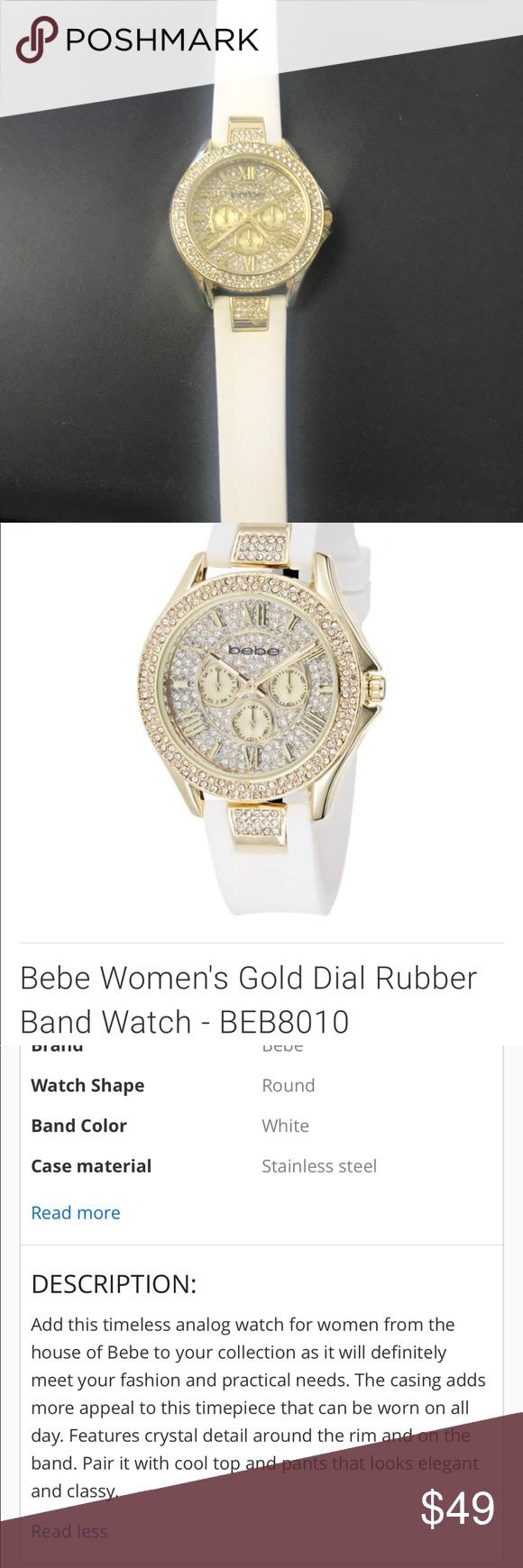 f3ab7311d2 Women's babe Watch Like new!!! Super cute Elastic wrist band bebe  Accessories Watches