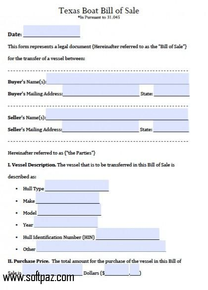 Get the Texas Boat Bill of Sale software for windows for free - incident report pdf
