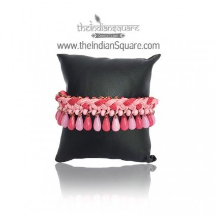 #Pink #Threaded #Beads #Bracelet gives a sophisticated look. CASH ON DELIVERY available.