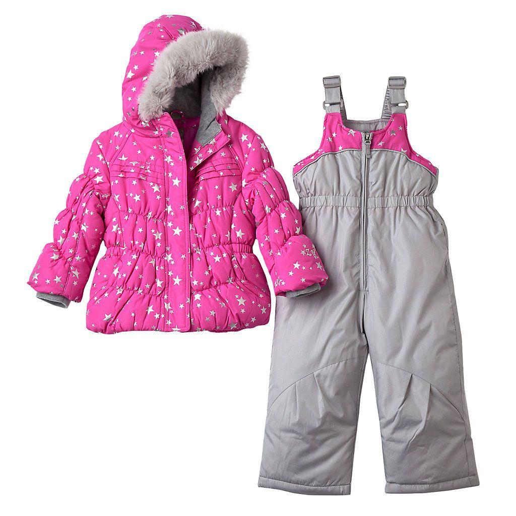 47797ba4ea08 Toddler Girl ZeroXposur Star Puffer Jacket   Bib Snow Pant Set ...