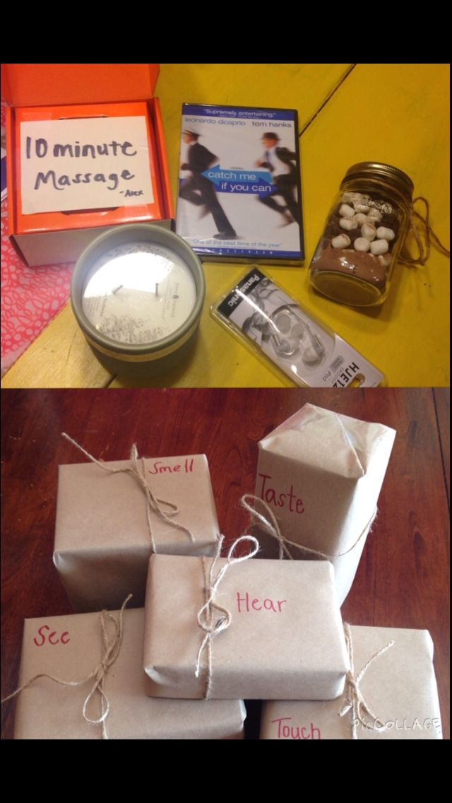 first wedding anniversary gift ideas for husband pinterest%0A I love you with all my senses gift for him