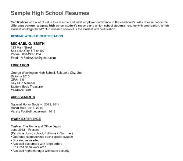 how to write high school graduation on resume