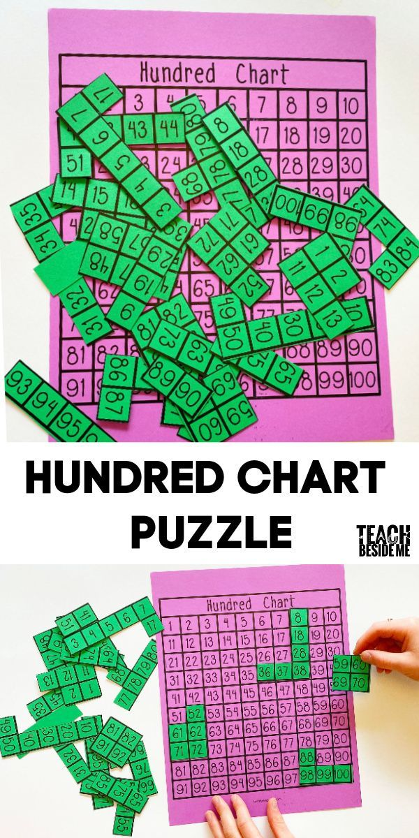 Printable Hundred Chart Puzzle
