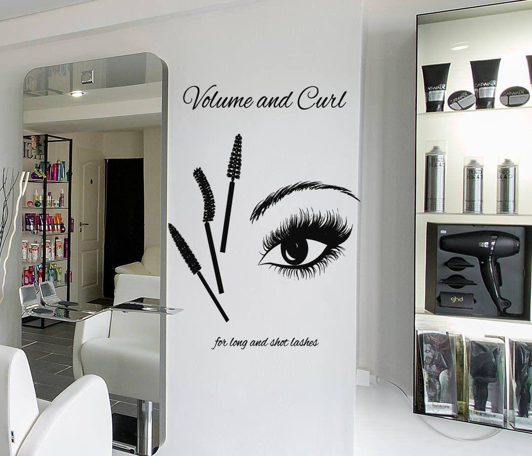 f6252885ac5 Eyelashes Lashes Wall Decal, Eyelashes Mascara Wall Sticker, Eye Eyebrows Wall  Decor, Beauty Salon Decor, Make Up Room Wall Decor Art se127: Handmade