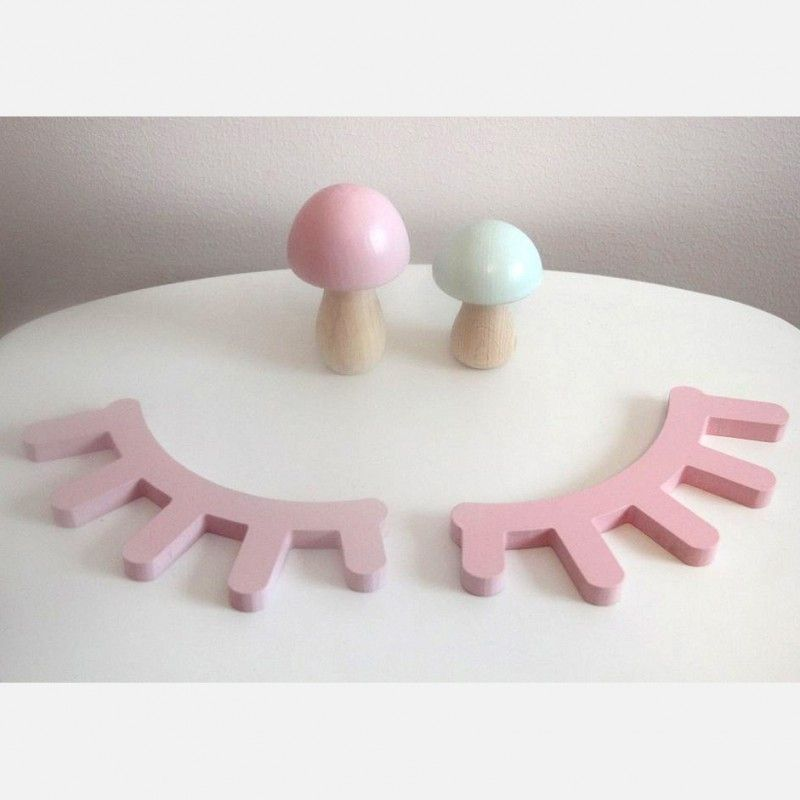 Kinderzimmer Dekoration, Wimpern, pink, von Pixistuff