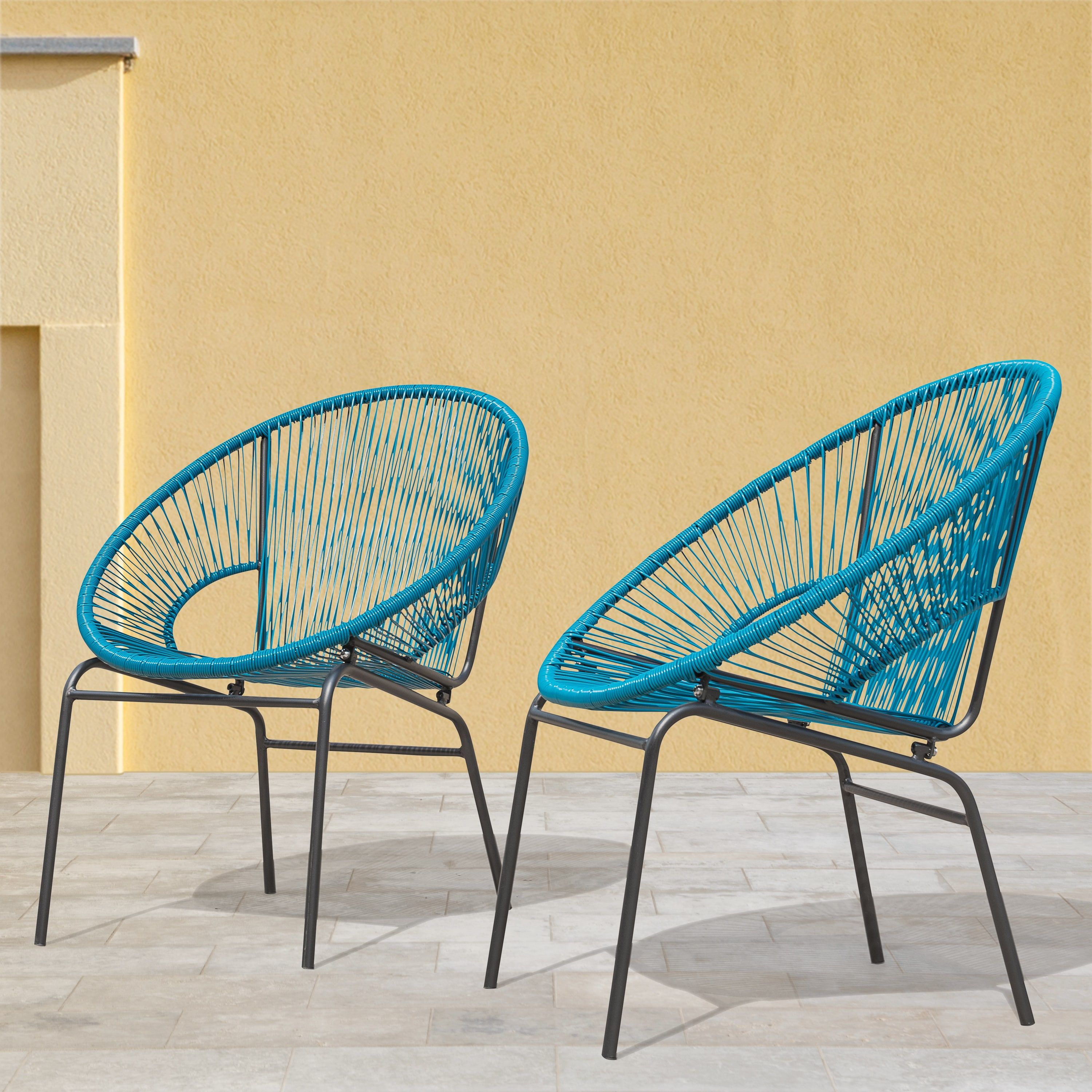 Sarcelles Woven Wicker Patio Chairs By Corvus Set Of 2 Free Shipping Today 23999647