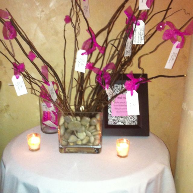 Wish Tree made by my MOH for my bridal shower! Sooo cute!
