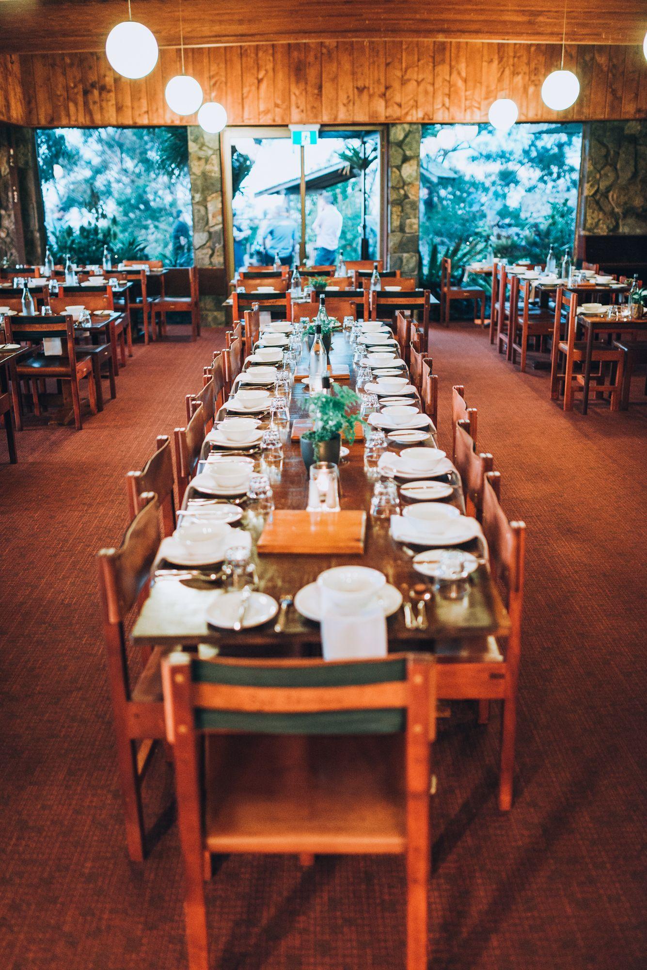 long table setup wedding reception%0A Cosy Setting of Binna Burra Mountain u    s Clifftop Dining   Haley  u     Chase u    s Wedding  Reception