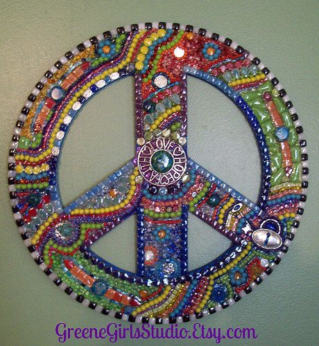 Peace Sign Decorating Ideas Adorable Metallic Mosaic Art  Google Search  Peace Signs  Pinterest Design Ideas