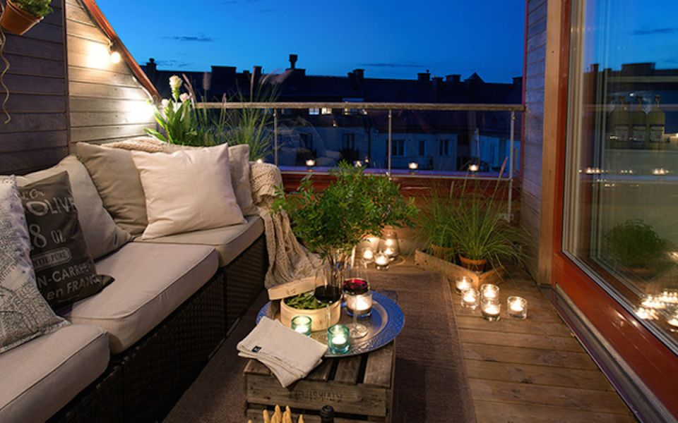 Ideas para la decoración de balcones   Decoración de balcón, Balcón ...
