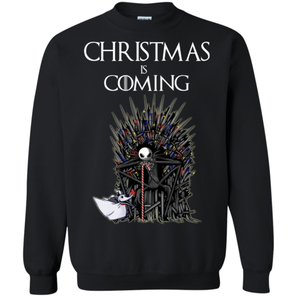 Game Of Thrones Ugly Sweater Christmas Is Coming Jack Skellington