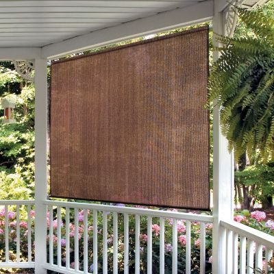 Roll Up Solar Shade 8 W X 6 L Improvements Outdoor Blinds Solar Shades Porch Shades