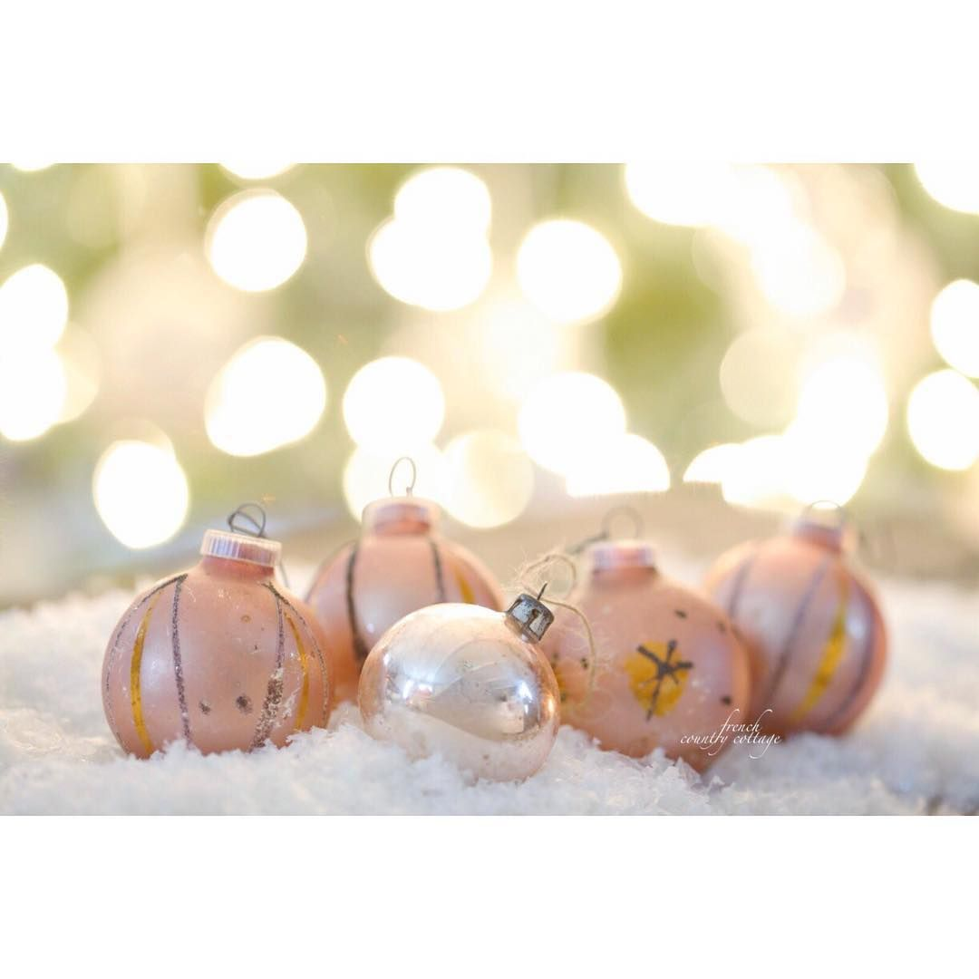 Courtney On Instagram Loving Displaying Vintage Ornaments These Blushing Beauties Were Mixed In A Shoebo Vintage Ornaments Christmas Decorations Ornaments