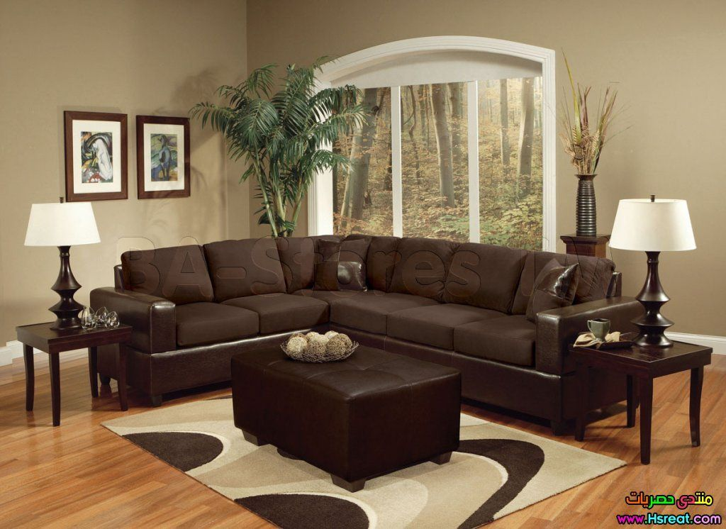 decorating ideas for living room with dark brown couch