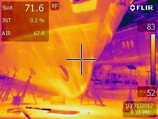 This Is A Infrared Thermal Image Taken Of A Aluminum Yacht Suenos Azules Marine Surveying And Consulting Palm Beach Gardens Florida