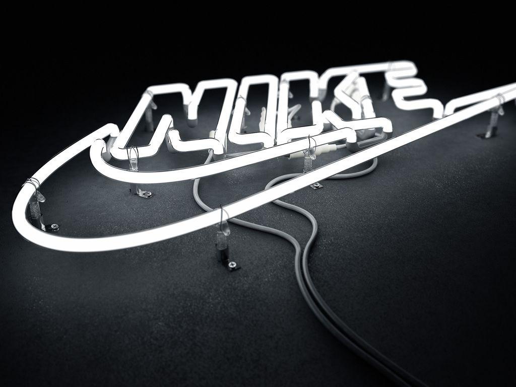 Nike Neon Logo by Rizon Parein