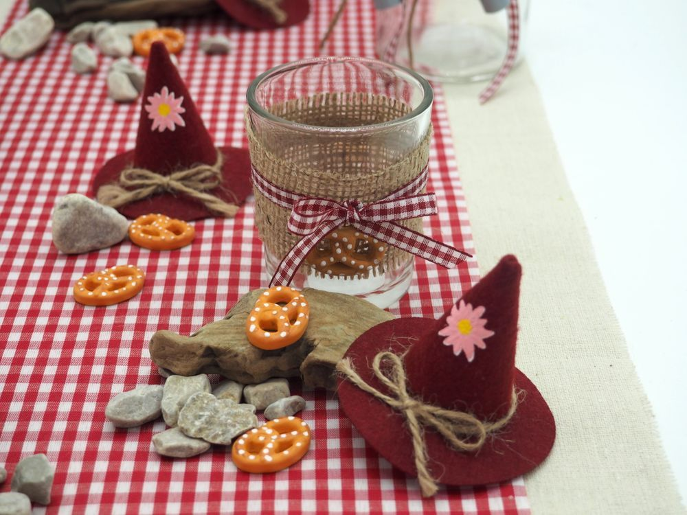 Tischdeko Oktoberfest Party Bayern Rot Deko Set