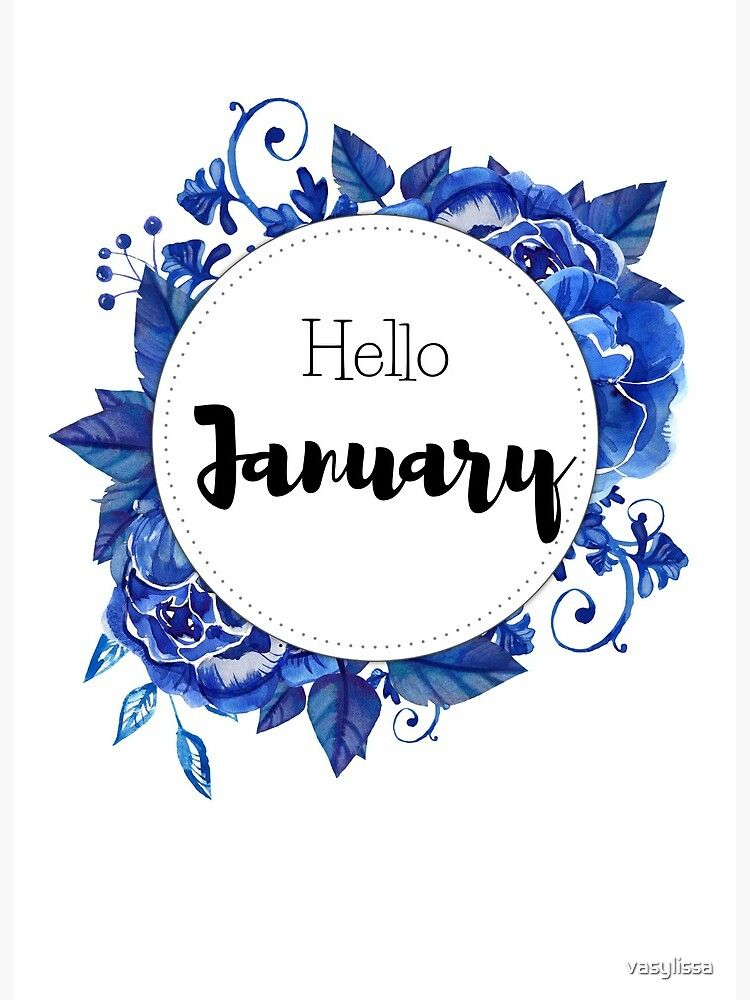 'Hello January - monthly cover for planners, bullet journals, ' Art Board Print by vasylissa