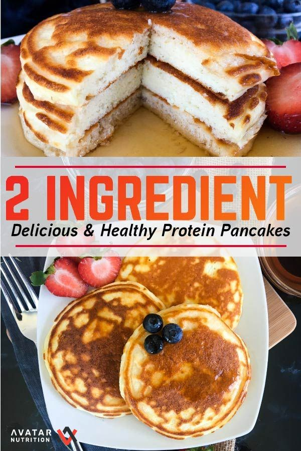 1 Carb, 2 Ingredient Protein Pancakes!!