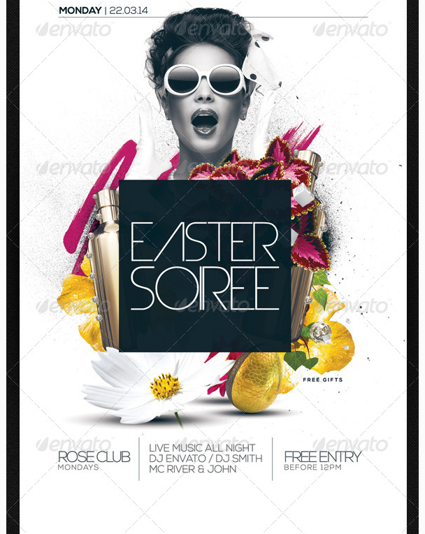Easter Soiree Flyer Template Psd Party Flyer Templates For Clubs