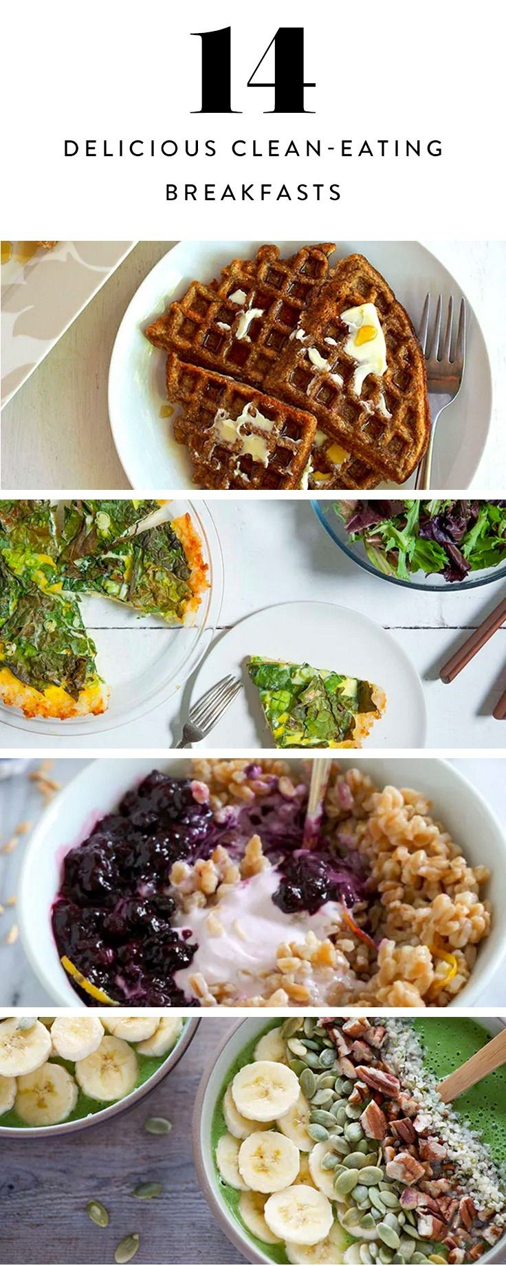 14 Clean-Eating Breakfasts to Jump-start Your Day #cleaneating