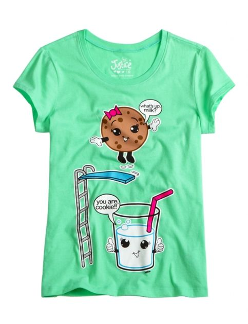 Milk And Cookie Graphic Tee Girls Graphic Tees Clothes Shop Justice Justice Girls Clothes Shop Justice Justice Clothing