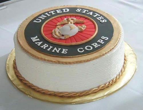 Happy Birthday Marine Corps Usmc Marine Corps Cake Marine Cake Und Marine Corps Birthday