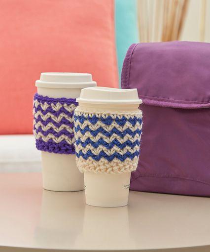 Zigzag Crochet Cup Cozy | crochet | Pinterest | Para el hogar y Hogar