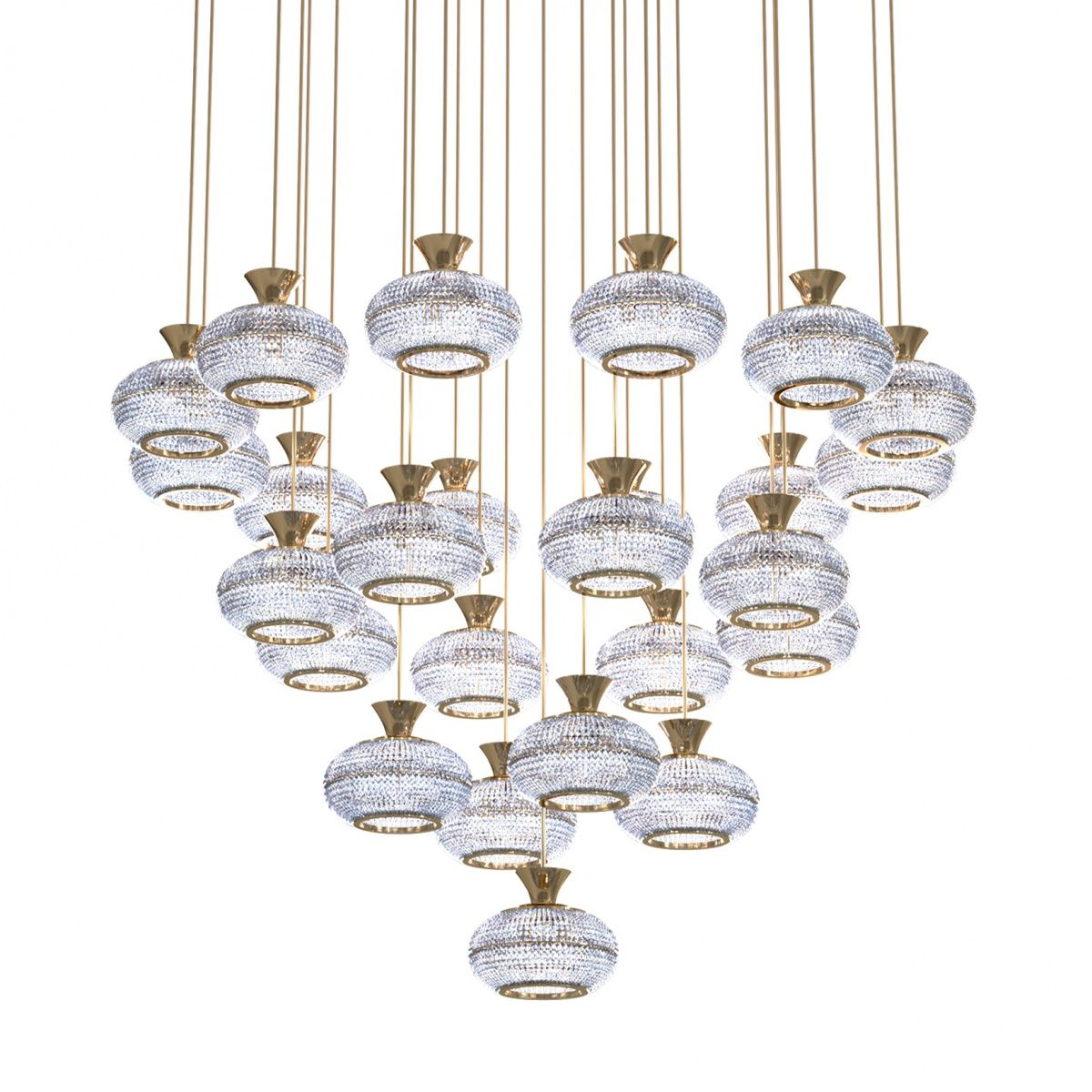 Luxury Vintage Crystal Chandelier Pendant Hanging Light Chandeliers Lamp for Home Hotel Decor