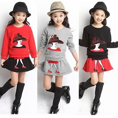 99cfc0b0ade5 Details about 2PCS Toddler Baby Girl Fashion Outfits T shirt tops + ...