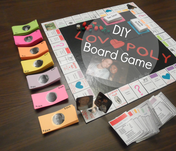 Diy Lovopoly Board Game Board Games Diy Gifts For