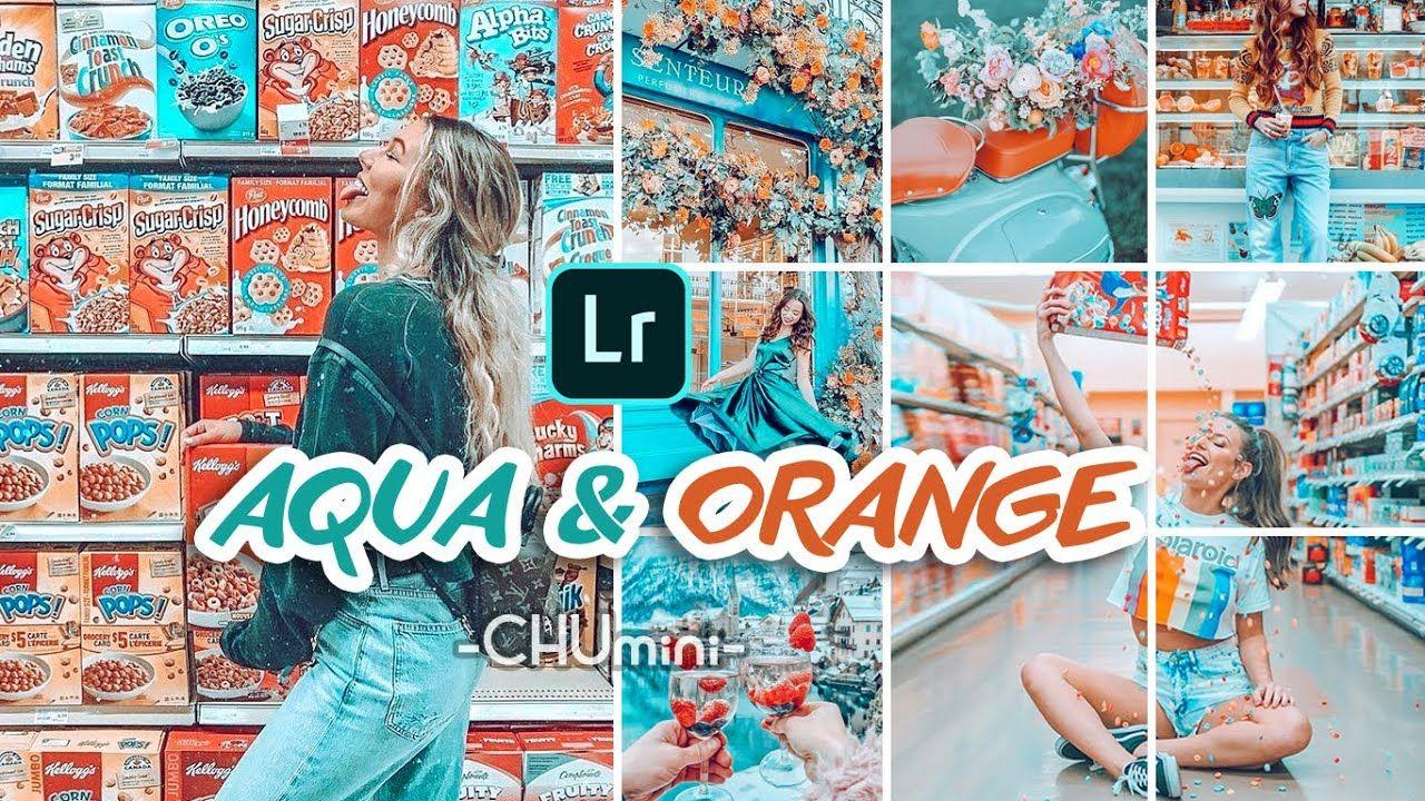 Chu mini aqua orange lightroom preset lightroom