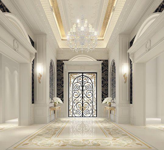 Entrance lobby design palace dubai living areas for Top interior design firms dubai