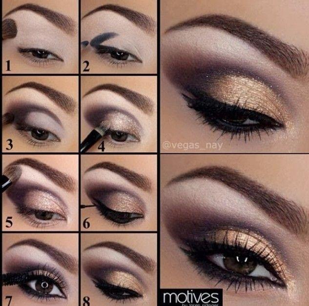 Purple And Gold Eye Makeup Tutorial | Anleitungen | Pinterest ...