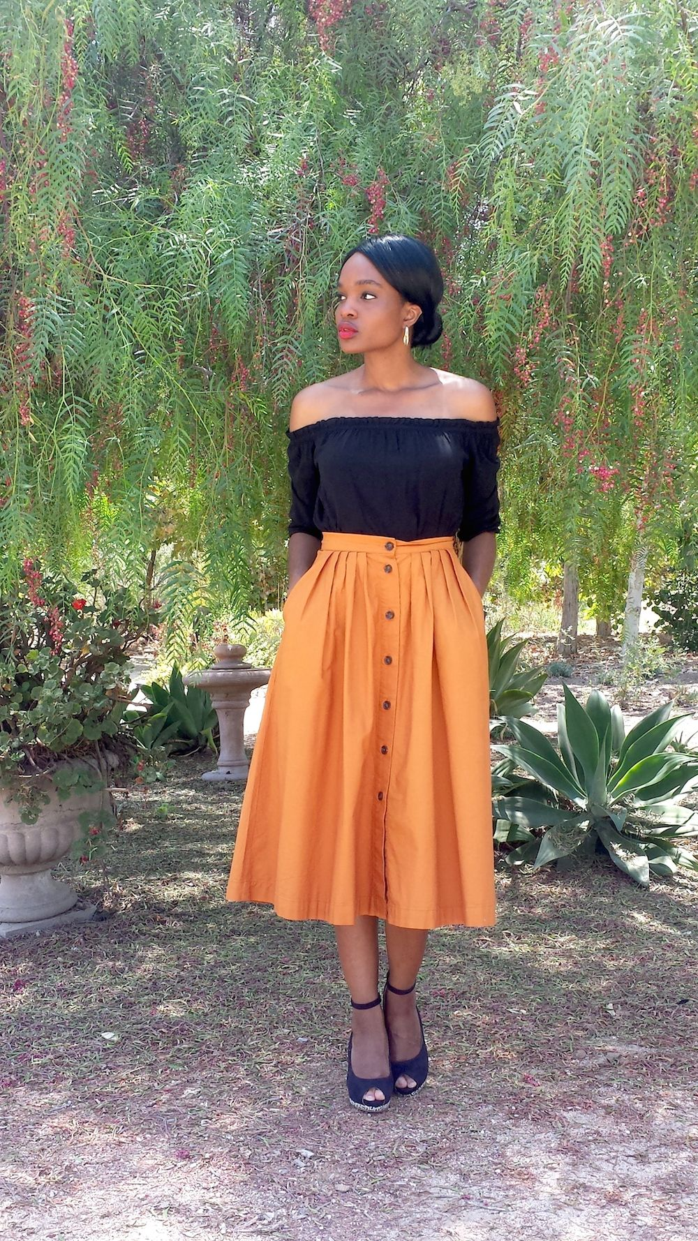 f77e9bd7d9 What I Wore: Talbots A-Line Pocket Skirt | What I Wore: Fall ...