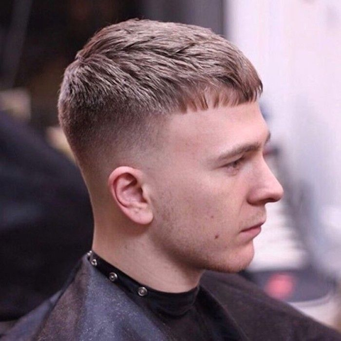 Faded Undercut Man With Pale Hair Cut Very Short On Neck And Side