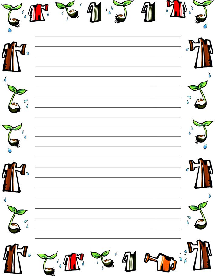 printable writing paper with borders Cute teddy bear writing paper with pink border this is my daughter's most favorite writing paper stationery design among all these i hope your kids will also like the designs that i have made and published here for you for free to print.