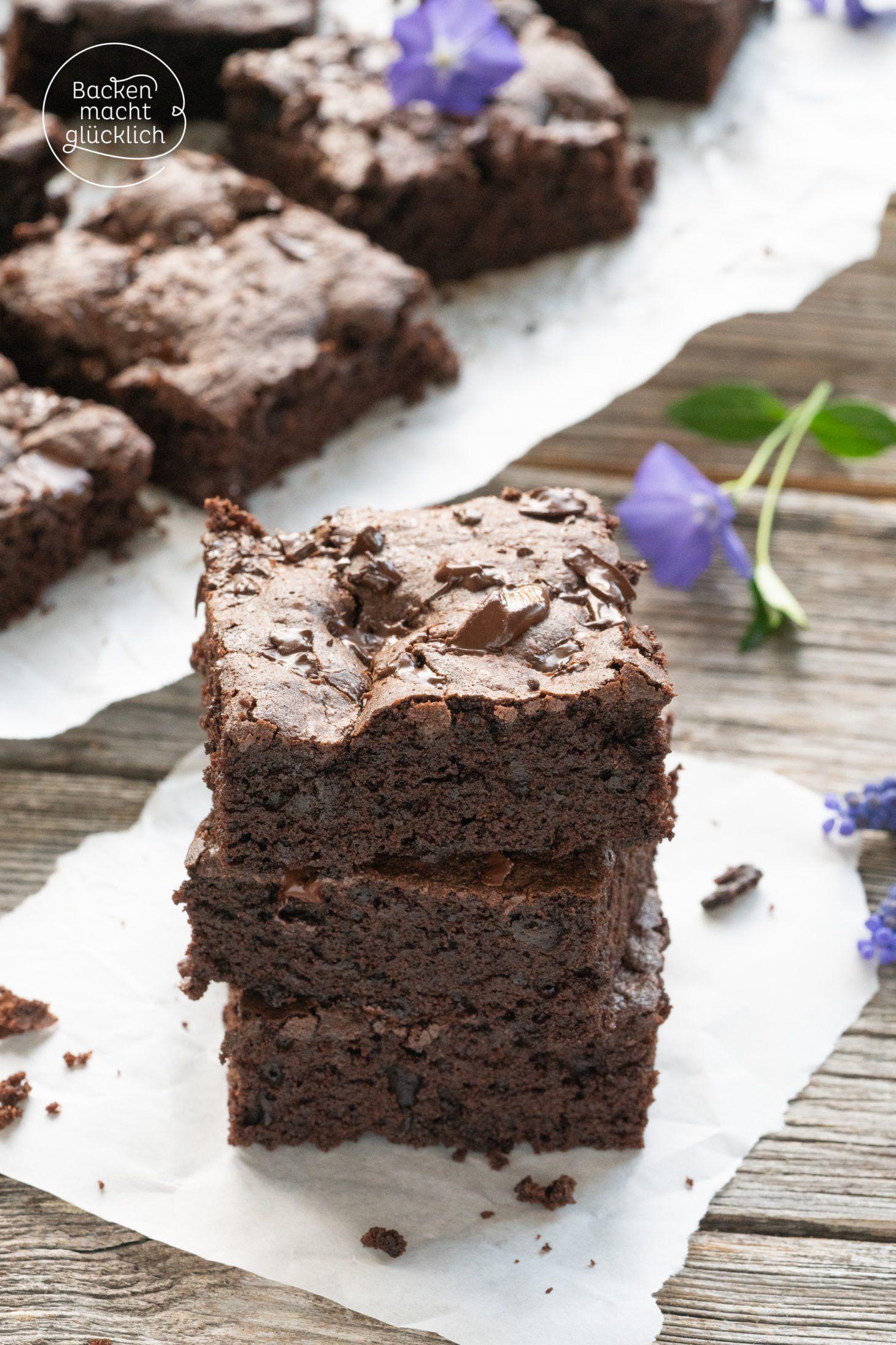 American Brownies Rezept Brownies Ohne Backen Backen Macht Glucklich Und Schokoladenkuchen Rezept