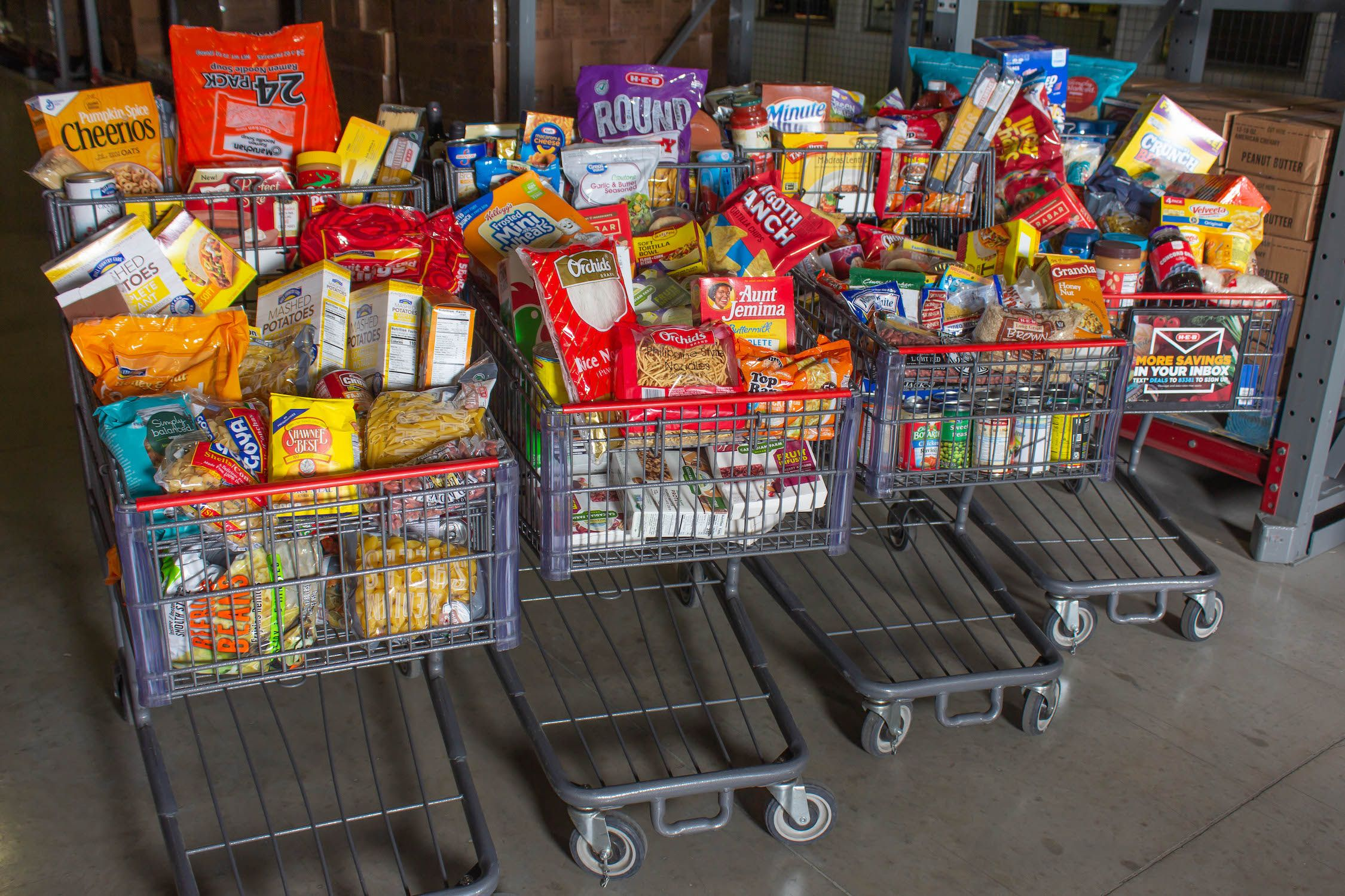 A 45 donation to the san antonio food bank provides